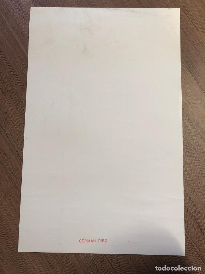 Coleccionismo Papel Varios: Cartel de la exposición de GERMAN DIEZ ZARAGOZA 1988 (49,5x31,5cm) - Foto 2 - 228280000
