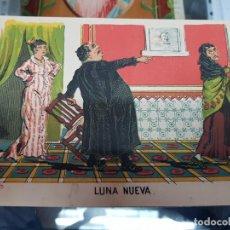 Coleccionismo Papel Varios: ANTIGUA ILUSTRACION COMICA CARICATURA LUNA NUEVA ILUSTRADOR EDUARDO SOJO DEMOCRITO. Lote 228295305
