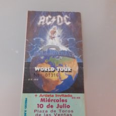 Coleccionismo Papel Varios: AC/DC ENTRADA ORIGINAL CONCIERTO AC/DC. Lote 228441895