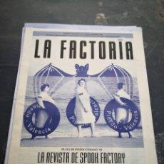 Coleccionismo Papel Varios: SPOOK FACTORY REVISTA LA FACTORIA N2 JUNIO 1994. Lote 228454990