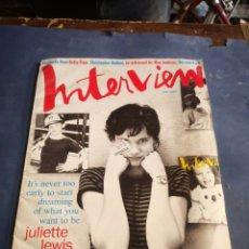 Coleccionismo Papel Varios: INTERVIEW 1993. Lote 230397945