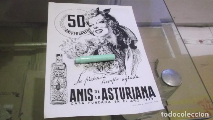 RECORTE PUBLICIDAD AÑO 1945-50 ANIVERSARIO ANIS DE LA ASTURIANA-OVIEDO.ATRAS.AGUA CUTÁNE EL CASTILLO (Coleccionismo en Papel - Varios)