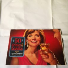Coleccionismo Papel Varios: 50 DRINKS & TOASTS… TO HELP MAKE YOU THE PERFECT HOST (1968) PUBLICIDAD ANTIGUA. Lote 231563955