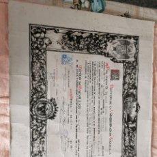 Coleccionismo Papel Varios: ANTIGUO TÍTULO DE BACHILLER RECTOR DE LA UNIVERSIDAD DE SEVILLA. Lote 232143855