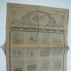 Coleccionismo Papel Varios: TARRAGONA-LA TRADICIONAL PROCESION DE VIERNES SANTO-AUCA ANTIGUA-VER FOTOS-(V-22.431). Lote 232370275