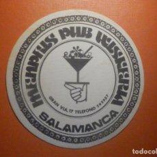 Coleccionismo Papel Varios: POSAVASOS PUBS Y DISCOTECAS - MENPHIS PUB - WISKERÍA - SALAMANCA. Lote 232973630