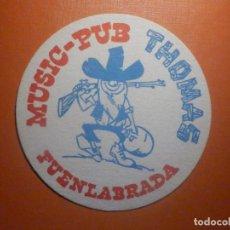 Coleccionismo Papel Varios: POSAVASOS PUBS Y DISCOTECAS - MUSIC-PUB THOMAS - FUENLABRADA - MADRID. Lote 232974665