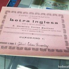 Coleccionismo Papel Varios: ANTIGUO PAPEL CALIGRAFICO COLEGIO ESCOLAR LETRA INGLESA HERMINIO TORRES MURCIA. Lote 233134155