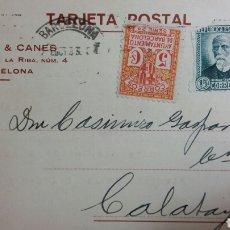 Coleccionismo Papel Varios: TARJETA POSTAL REPÚBLICA SELLO DE AYT BARCELONA. Lote 234142555