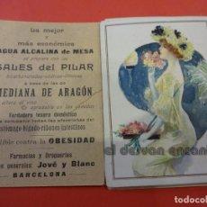 Coleccionismo Papel Varios: LOTE TARJETAS CROMOLITOGRÁFICAS ORIGINALES. PUBLICIDAD AGUA Y SALES. FARMACIA. BARCELONA. HACIA 1890. Lote 234375675