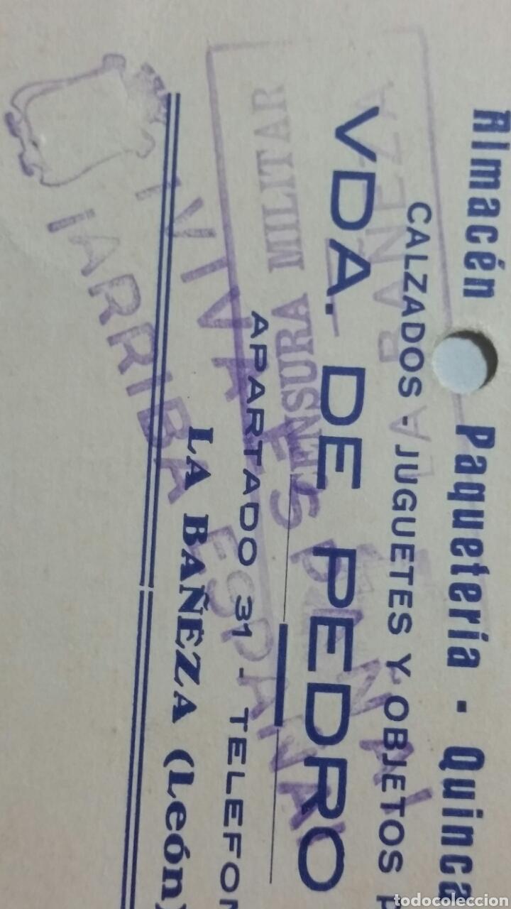Coleccionismo Papel Varios: Tarjeta postal censura militar de LA BAÑEZA Leon escasa - Foto 2 - 234413090
