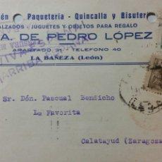 Coleccionismo Papel Varios: TARJETA POSTAL CENSURA MILITAR DE LA BAÑEZA LEON ESCASA. Lote 234413090