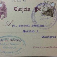 Coleccionismo Papel Varios: TARJETA POSTAL CENSURA GOBIERNO MILITAR DE SAN SEBASTIÁN AÑO 1939. Lote 234413265