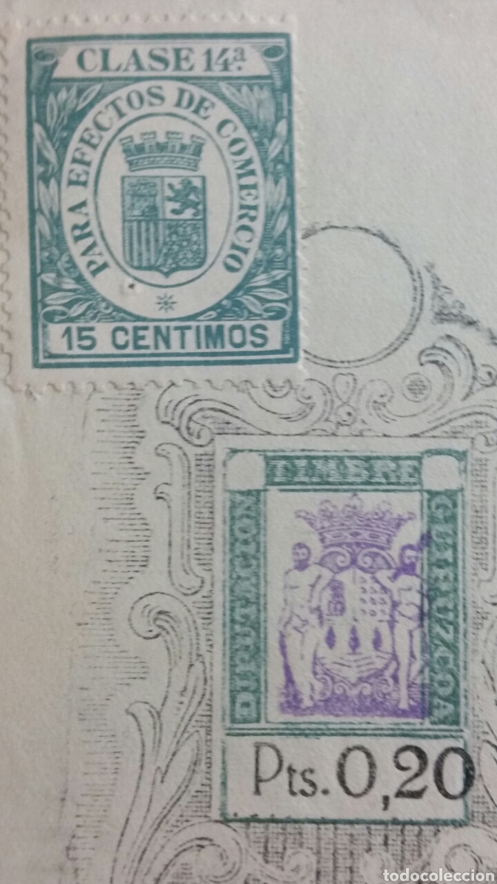 Coleccionismo Papel Varios: Letra de cambio de la república 0.20 pts timbre San Sebastián Banco de san Sebastián año 1935 - Foto 2 - 234414470