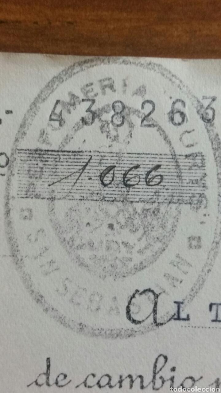 Coleccionismo Papel Varios: Letra de cambio de la república 0.20 pts timbre San Sebastián Banco de san Sebastián año 1935 - Foto 3 - 234414470