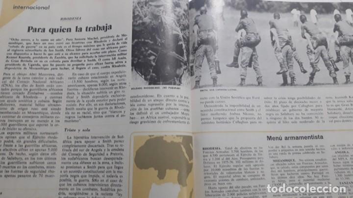 GUERRA CONTRA EL REGIMEN DE APARTHEID DE RHODESIA. RECORTE DE CAMBIO 16, ABRIL 1976 (Coleccionismo en Papel - Varios)