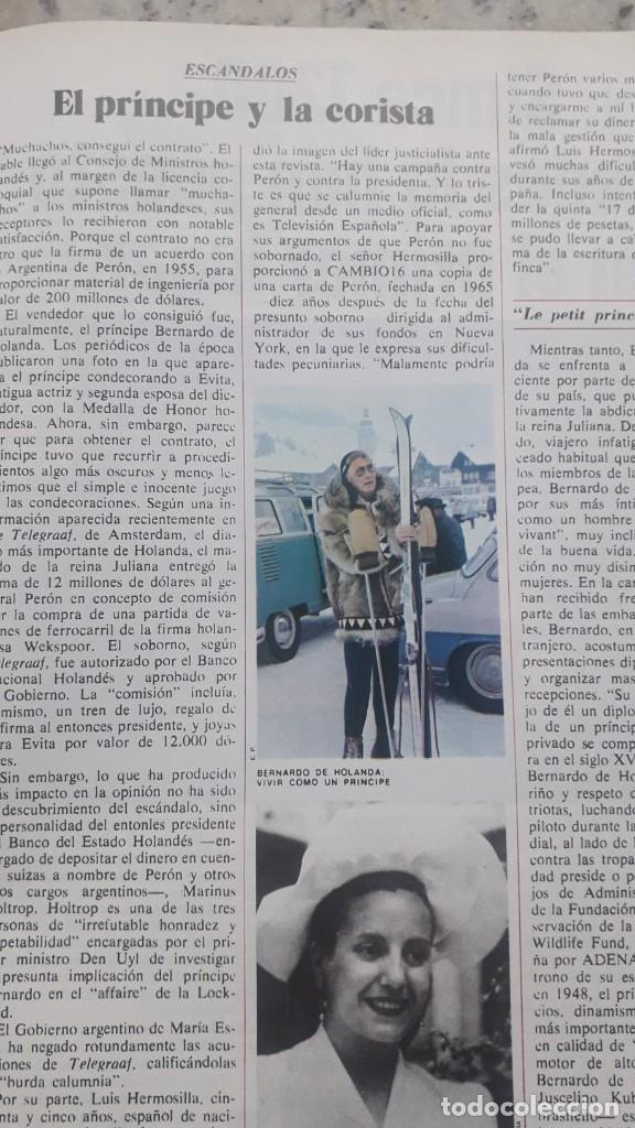 ESCANDALOS DEL PRINCIPE BERNARDO DE HOLANDA . RECORTE DE CAMBIO 16, MARZO 1976 (Coleccionismo en Papel - Varios)