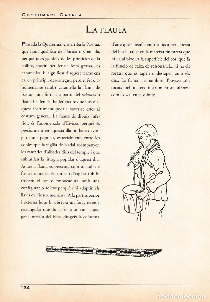 Coleccionismo Papel Varios: INSTRUMENTS MUSICALS - FLABIOL GARROT / FOTO REV. LA FLAUTA - FULL COSTUMARI CATALA - - Foto 2 - 234924320
