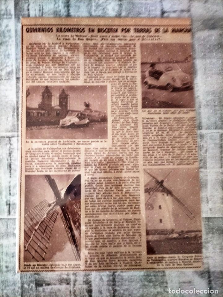 QUINIENTOS KILOMETROS EN BISCUTER POR TIERRAS DE LA MANCHA ARTICULO COMPLETO (Coleccionismo en Papel - Varios)