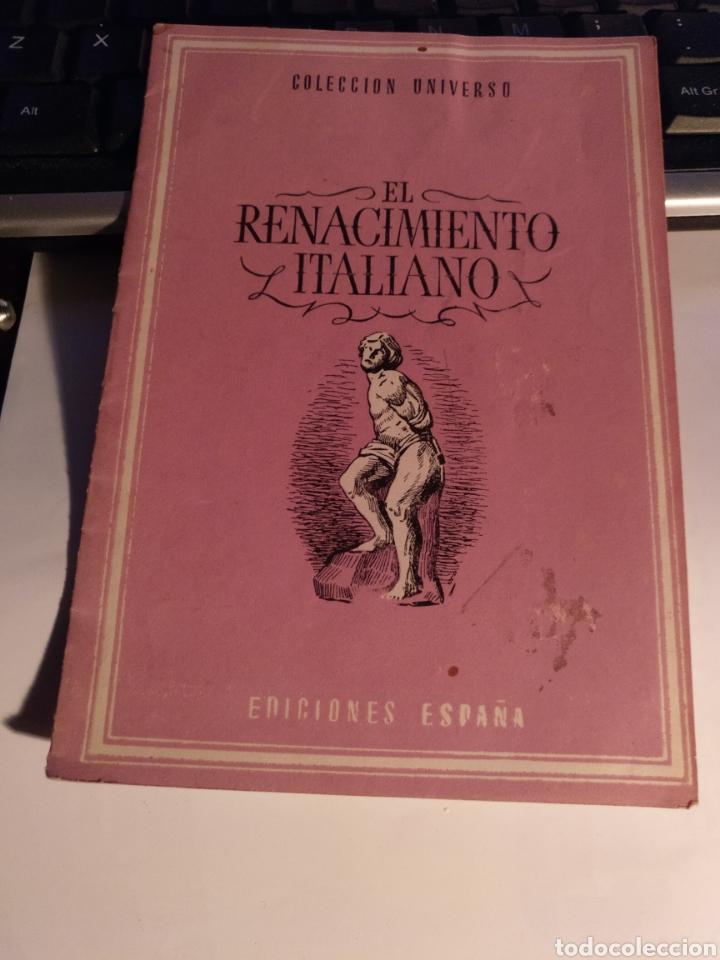RL RENACIMIENTO ITALIANO COLECCIÓN UNIVERSO (Coleccionismo en Papel - Varios)