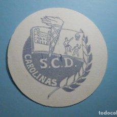 Altri oggetti di carta: POSAVASOS - S.C.D CAROLINAS - SOCIEDAD CULTURAL DEPORTIVA - ALICANTE. Lote 235603715