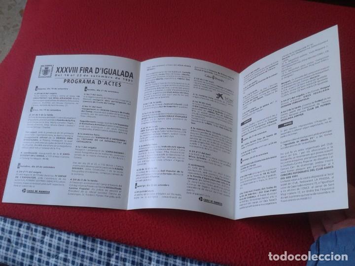 Coleccionismo Papel Varios: ANTIGUO TRÍPTICO FOLLETO XXXVIII FIRA FERIA DE IGUALADA D´IGUALADA BARCELONA 1991 VER FOTOS CATALUÑA - Foto 3 - 236496400