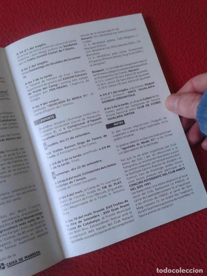 Coleccionismo Papel Varios: ANTIGUO TRÍPTICO FOLLETO XXXVIII FIRA FERIA DE IGUALADA D´IGUALADA BARCELONA 1991 VER FOTOS CATALUÑA - Foto 6 - 236496400
