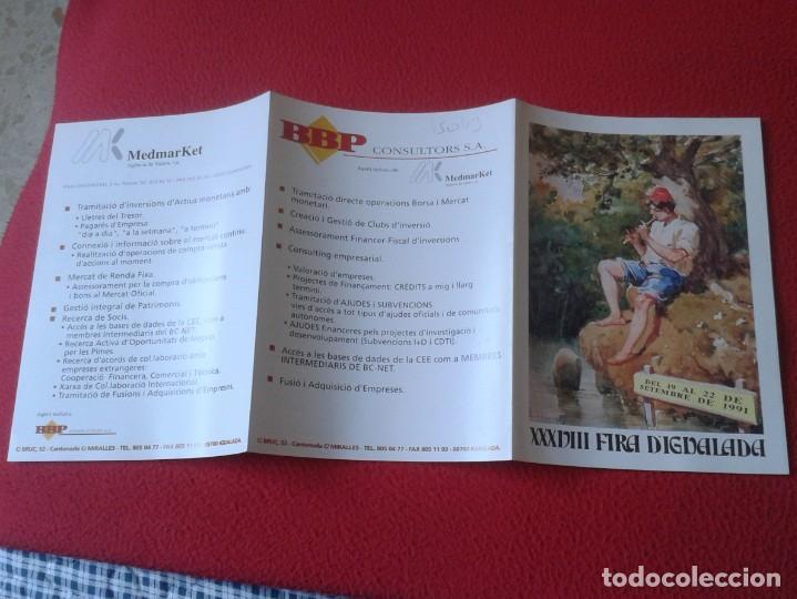 Coleccionismo Papel Varios: ANTIGUO TRÍPTICO FOLLETO XXXVIII FIRA FERIA DE IGUALADA D´IGUALADA BARCELONA 1991 VER FOTOS CATALUÑA - Foto 7 - 236496400