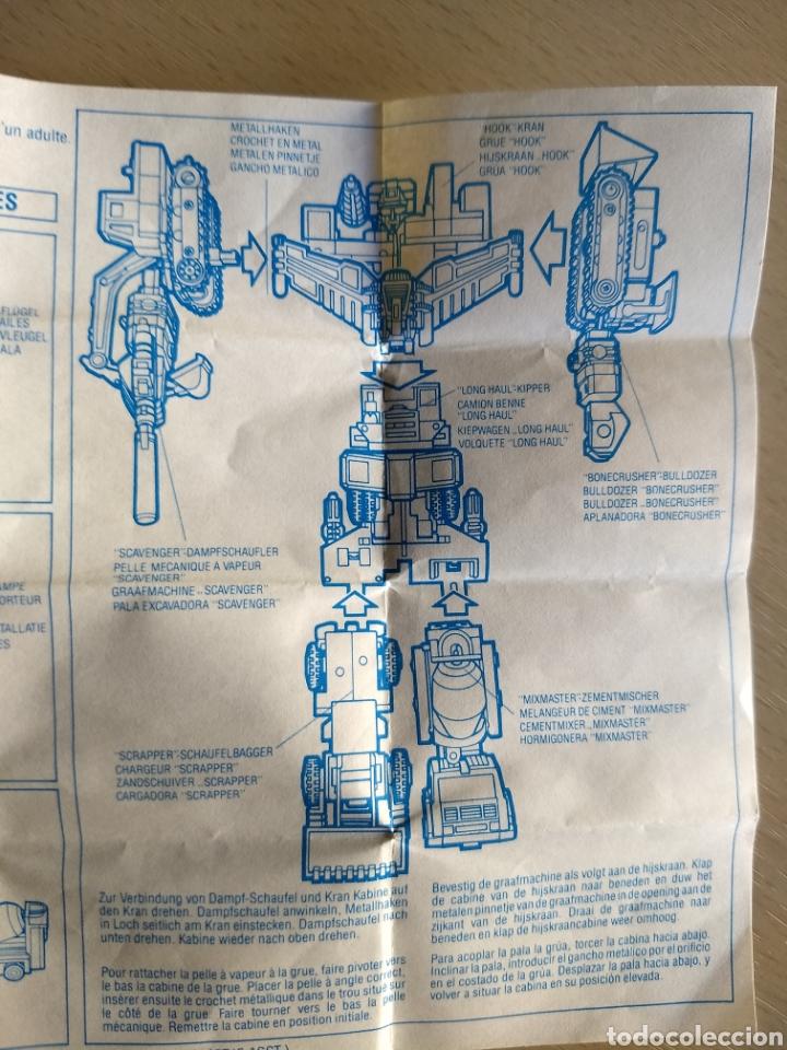 Coleccionismo Papel Varios: Instrucciones Transformers Devastator. 1984 - Foto 2 - 236503420