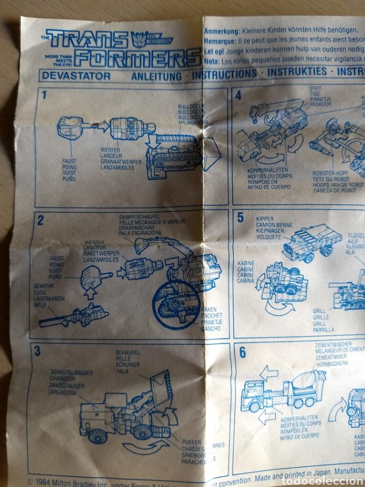 Coleccionismo Papel Varios: Instrucciones Transformers Devastator. 1984 - Foto 3 - 236503420