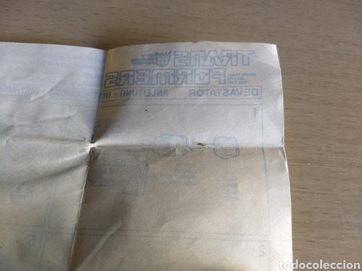 Coleccionismo Papel Varios: Instrucciones Transformers Devastator. 1984 - Foto 6 - 236503420
