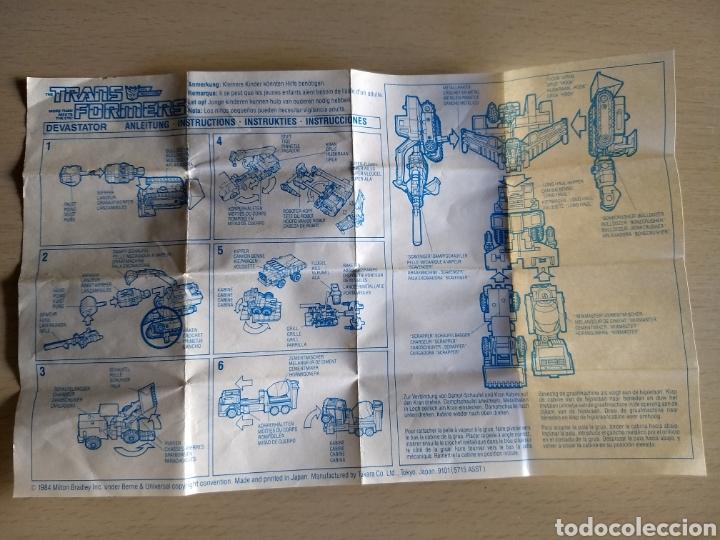 INSTRUCCIONES TRANSFORMERS DEVASTATOR. 1984 (Coleccionismo en Papel - Varios)