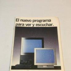 Coleccionismo Papel Varios: CATÁLOGO 1990 VÍDEO-TV LOEWE EL NUEVO PROGRAMA PARA VER Y ESCUCHAR. Lote 237541155