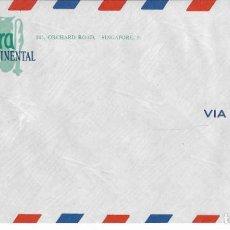 Coleccionismo Papel Varios: SOBRE VIA AIR MAIL DEL HOTEL SINGAPURA INTER-CONTINENTAL. Lote 237542385