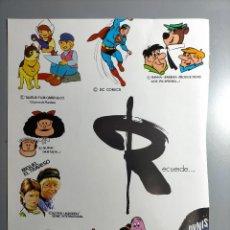 Coleccionismo Papel Varios: PUBLICIDAD ROMAGOSA PERRO FLANDES DC COMICS PICAPIEDRA MAFALDA COLARGOL BARBAPAPA ,HISINSA. Lote 237551605