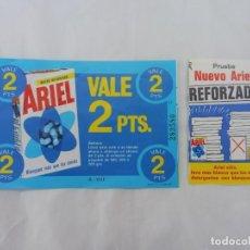 Coleccionismo Papel Varios: VALE ARIEL REFORZADO 2 PTS PROCTER AND GAMBLE ESPAÑA S.A., 1972. Lote 237564155