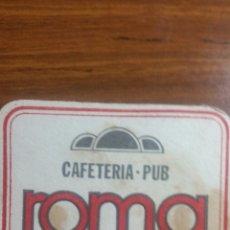 Coleccionismo Papel Varios: ZARAGOZA POSAVASOS CAFETERÍA PUB ROMA. Lote 239729440