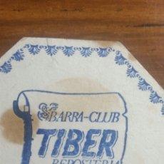 Coleccionismo Papel Varios: ZARAGOZA CLUB TIBERIO POSAVASOS REPOSTERÍA. Lote 239729505