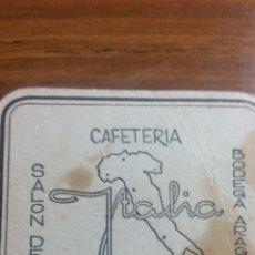 Coleccionismo Papel Varios: ZARAGOZA POSAVASOS CAFETERÍA ITALIA. Lote 239730680