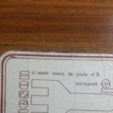 Coleccionismo Papel Varios: ZARAGOZA POSAVASOS MESÓN EL SARRIO. Lote 239730730
