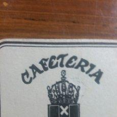 Coleccionismo Papel Varios: ZARAGOZA POSAVASOS CAFETERÍA ÁMSTERDAM. Lote 239730900