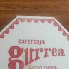 Coleccionismo Papel Varios: ZARAGOZA POSAVASOS CAFETERÍA GURREA. Lote 239730950