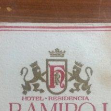 Coleccionismo Papel Varios: ZARAGOZA POSAVASOS HOTEL RAMIRO I. Lote 239731015