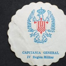 Collectionnisme Papier divers: POSAVASOS-V28-CAPITANIA GENERAL IV REGION MILITAR. Lote 240258700
