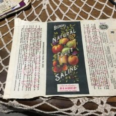 Outros artigos de papel: ANTIGUO PROSPECTO / FOLLETO DE ZUMO FRUTAS BISHOP´S NATURAL FRUIT SALINE AÑOS 30-40. Lote 241142925