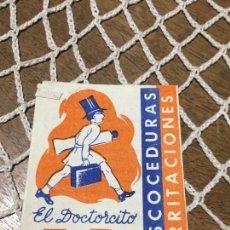 Coleccionismo Papel Varios: ANTIGUO PROSPECTO / FOLLETO DE FARMACIA EL DOCTORCITO B.B. ESCOCEDURAS IRRITACIONES AÑOS 40- 50. Lote 241734075