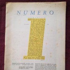 Coleccionismo Papel Varios: REVISTA NUMERO PROSA Y VERSO Nº 1 - 1981 + SUPLEMENTO ANTONIO OSORIO - ANDRES TRAPIELLO. Lote 241888650
