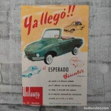 Coleccionismo Papel Varios: BISCUTER COMERCIAL AUTONACIONAL FURGONETA UTILAUTO BARCELONA. Lote 241893855