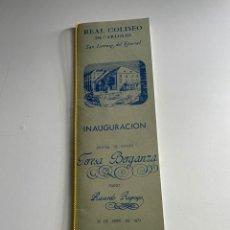 Coleccionismo Papel Varios: REAL COLISEO DE CARLOS III. Lote 242007705