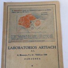 Coleccionismo Papel Varios: PUBLICIDAD DE LABORATORIOS ARTIACH, S.L. Lote 242346455